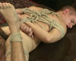 gay first time bondage sex and anally toyed