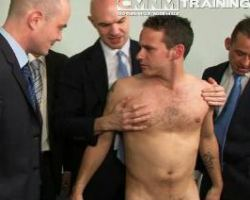 Gay hunk office boys stripped a newbie cute co worker