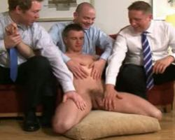 Gay office executives tortures a newbie worker