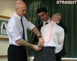 Groom forced to fuck and interrupted by gays from hell