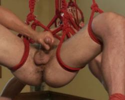 Hardcore bondage sex with a guy