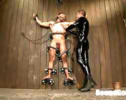 Male Dominatrix Fucks A Helpless Gay Guy While Bound