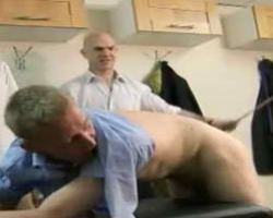 Men from Straight Hell Spanking A New Worker