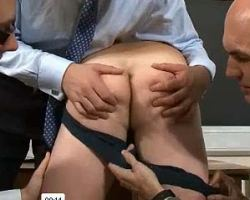 Misfit student got ass punished by school administrator