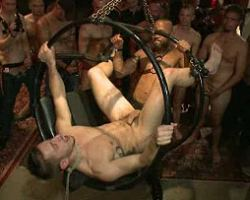 See what's happening in the dungeon when this twink got bound and fucked up