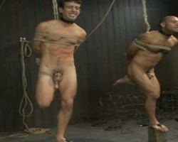 Two master tortured and fucked these slave boys