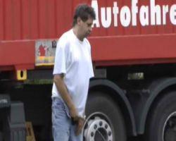 Videos of men taking a piss in a road side